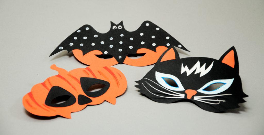 halloweenpyssel gör egna ansiktsmasker