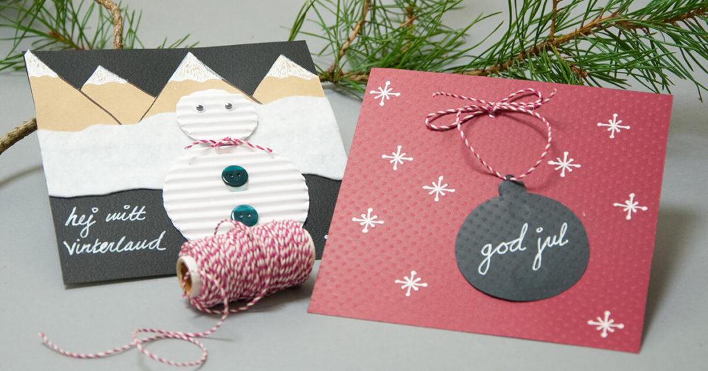 gör egna julkort av papper