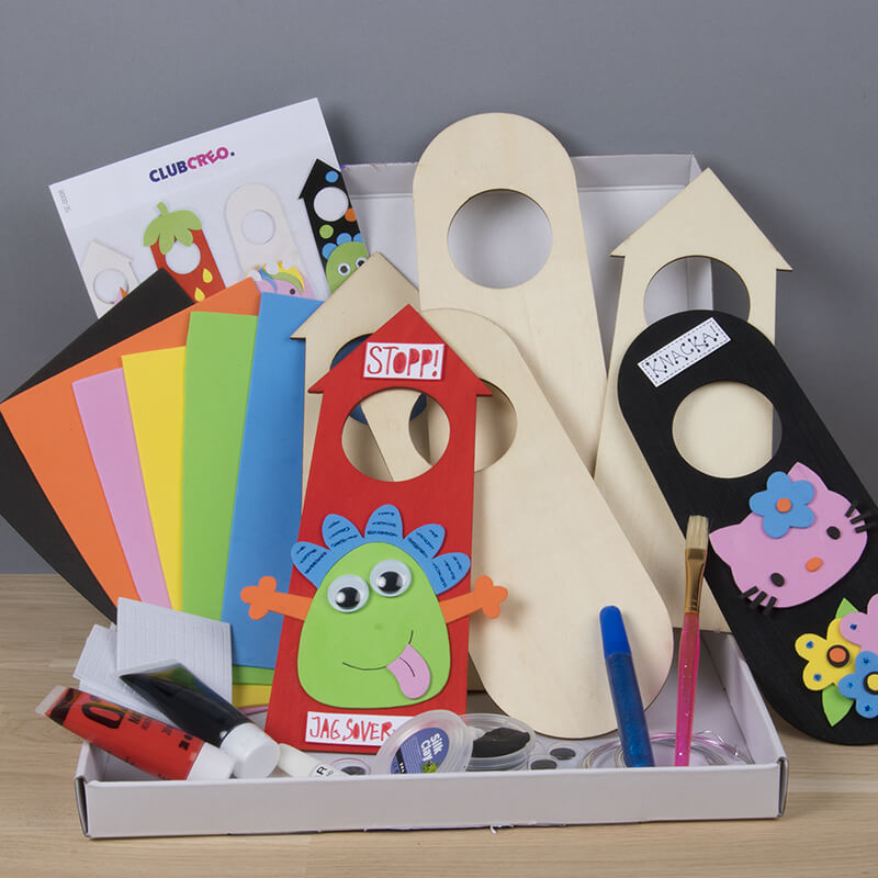 male dørskilte, sjove kreative aktiviteter for børn