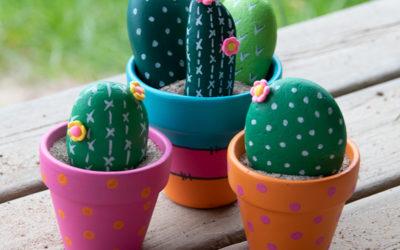 DHZ – Stenen beschilderen als cactussen
