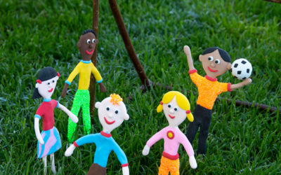 Kreative Ideen mit Knete und Bonsaidraht