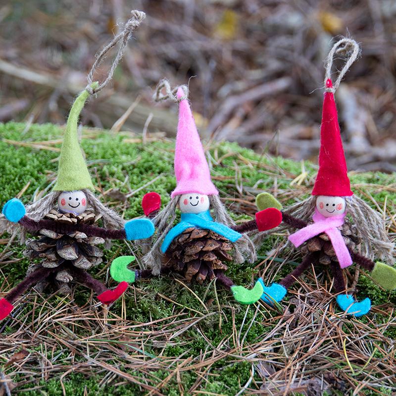 8 Tipps für lustiges Weihnachtsbasteln mit Zapfen