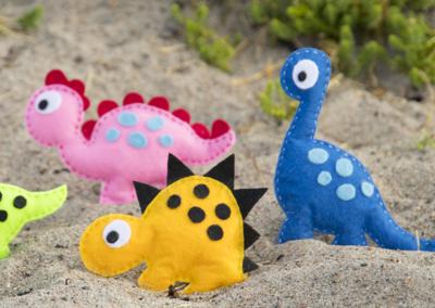 Figuren aus Filz – Dinosaurier