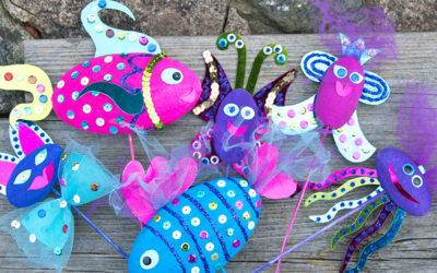 Barnpyssel – Var kreativ med frigolit och hobbyfärg