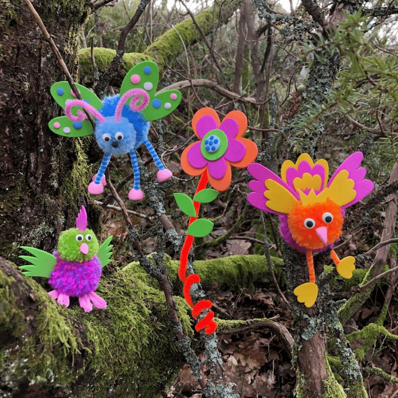 Kreativitet for børn – fugle af garn