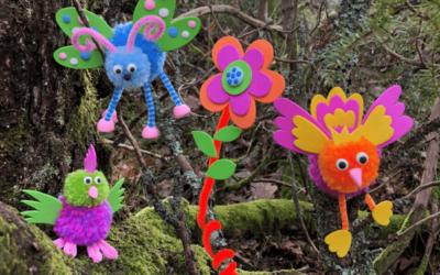Bastelspaß für Kinder – Vögel aus Garn