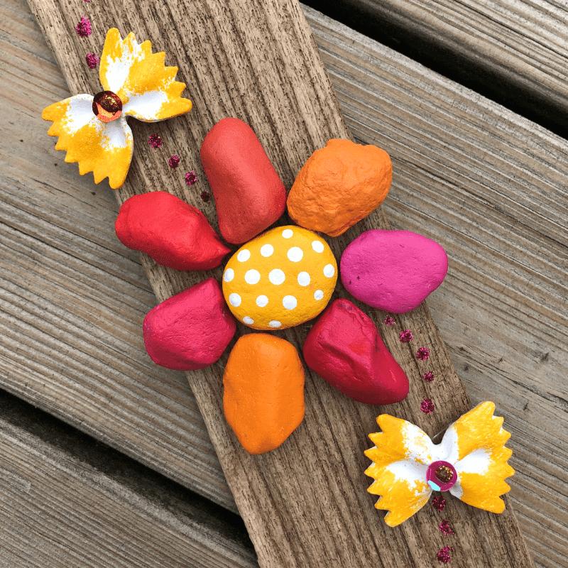 måla stenar till blomma