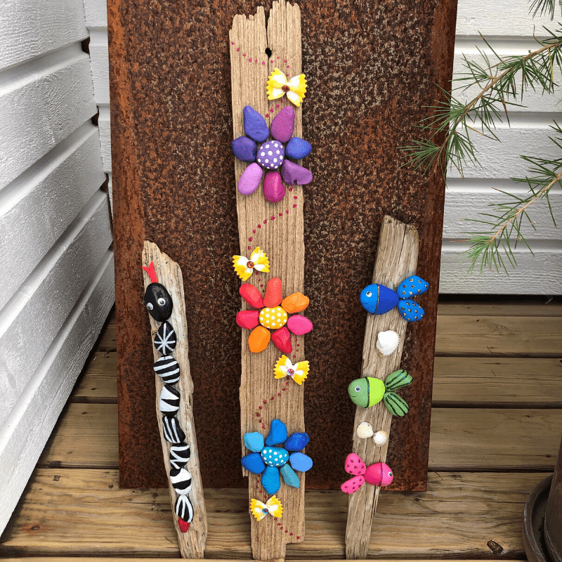sommarpyssel för barn måla stenar