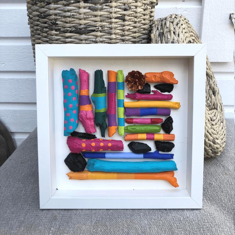 pyssel för barn måla pinnar