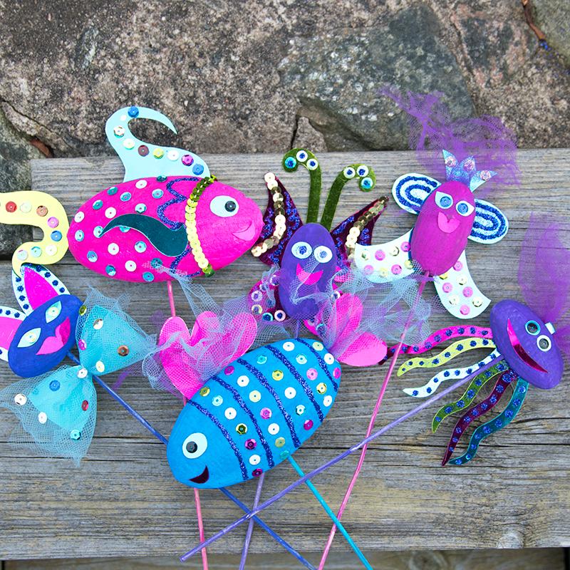 Leuk knutselmateriaal voor kinderen! Creatief met piepschuim en hobbyverf