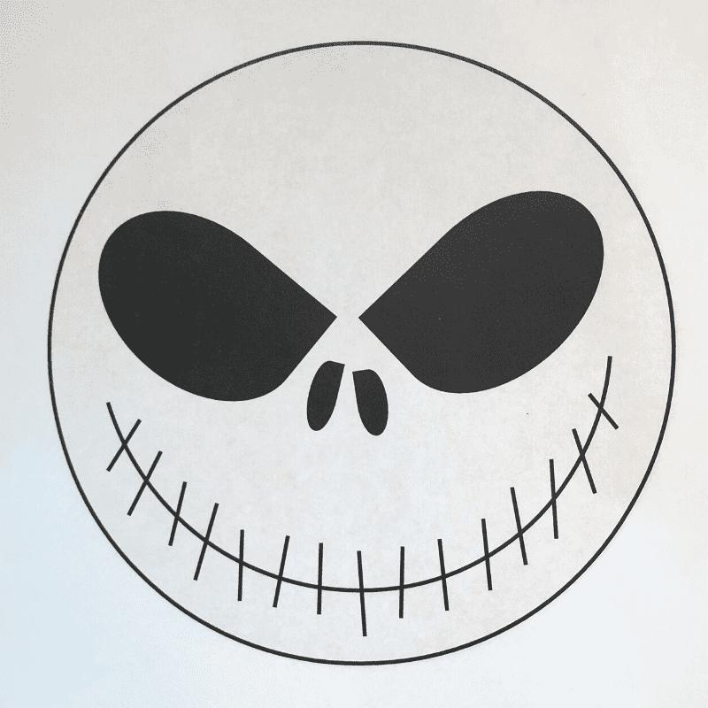 Döskalle – svart/vit