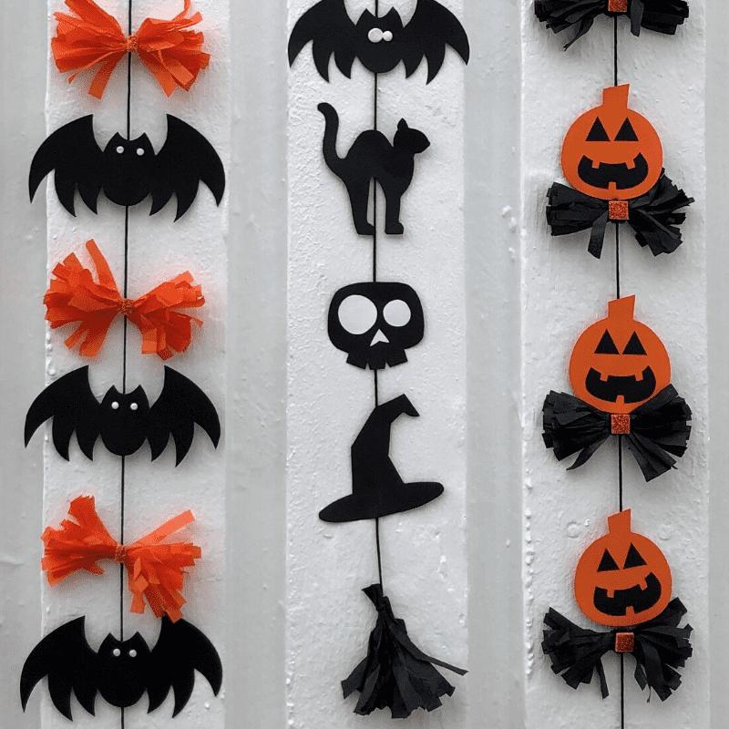 pyssla till Halloween girlanger av fladdermöss spöken pumpor