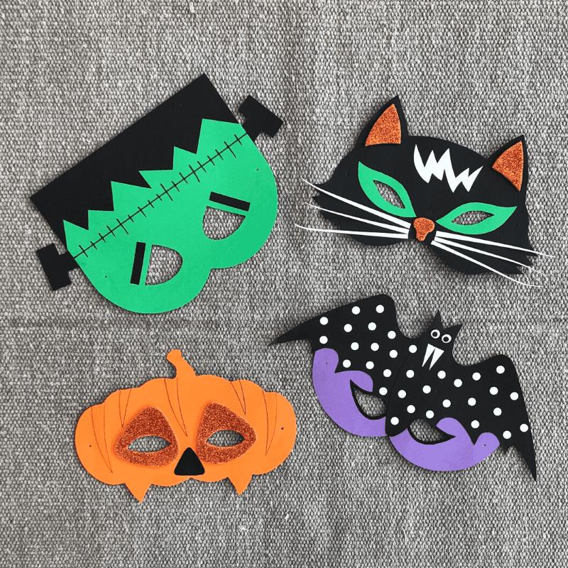 eigene Masken zu Halloween basteln