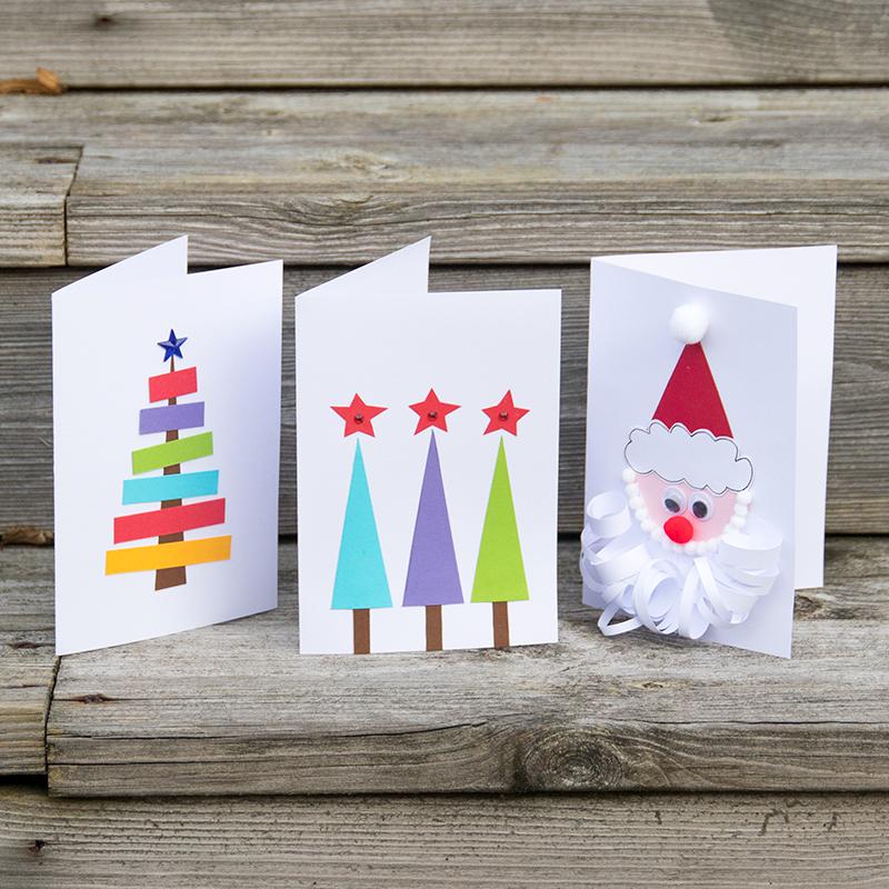 eigen kerstkaarten knutselen