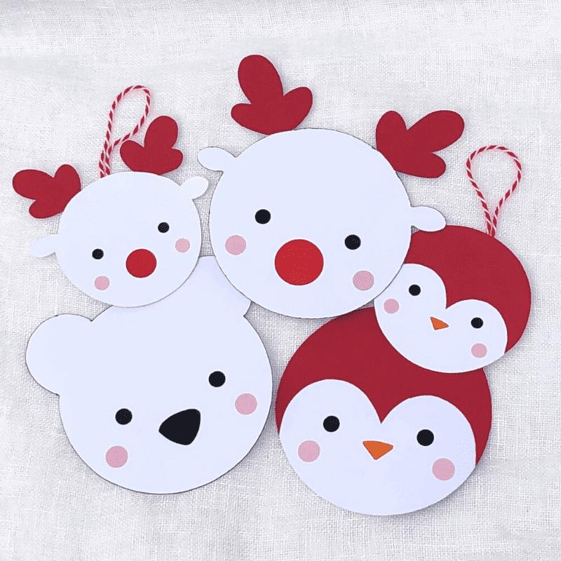 Polartiere aus Papier zu Weihnachten basteln