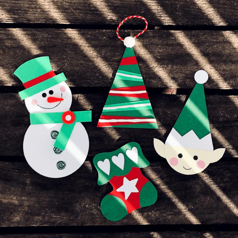 julepynt for børn, pynt af papir
