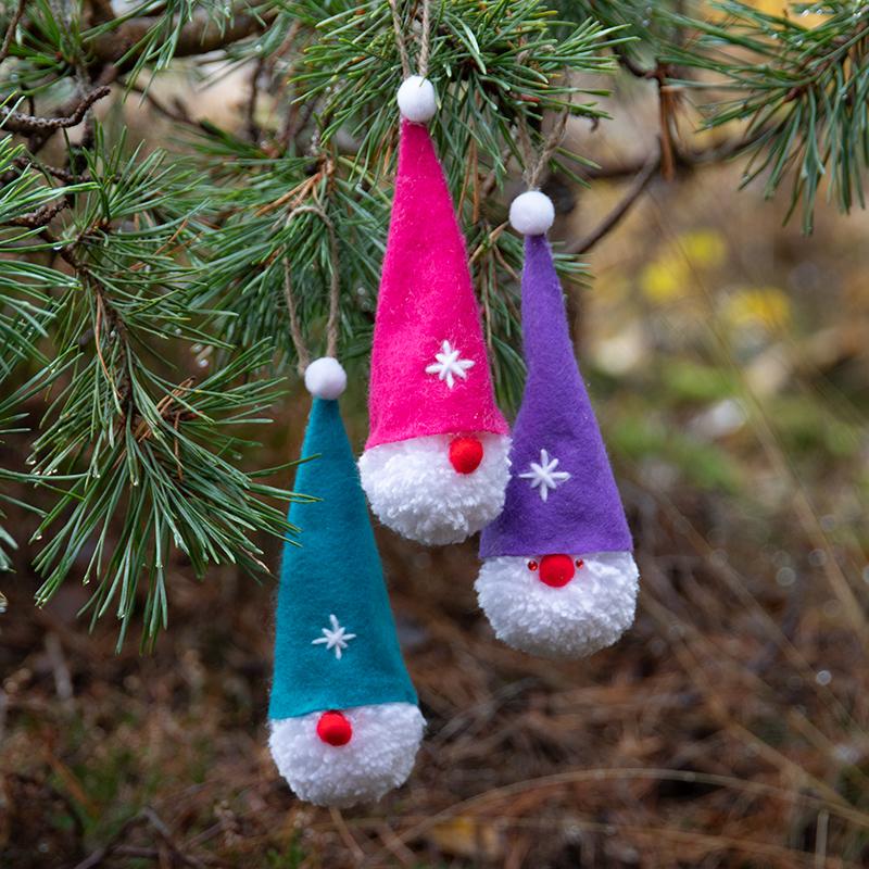 julpyssel för barn, tomtar av garn