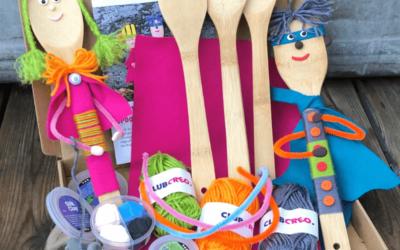 Pysselidéer för barn! Skojiga dockor av bestick.