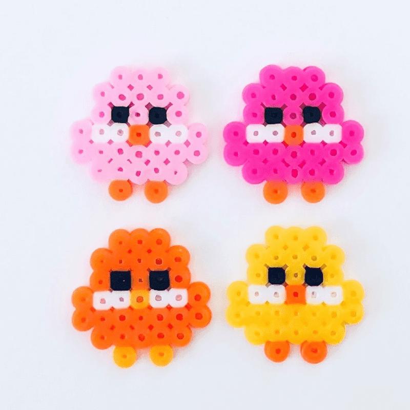 Kycklingar av rörpärlor