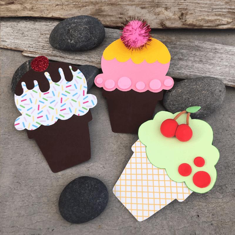 roligt sommarpyssel för barn bägare av färgad kartong