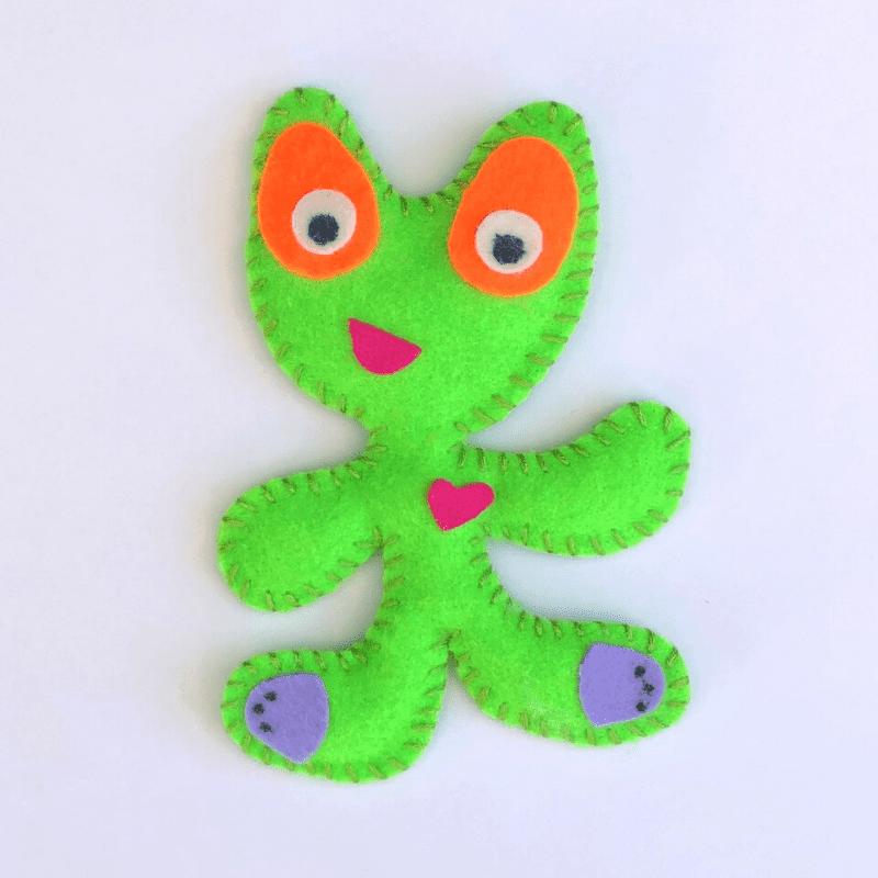 Basteltipp für Kinder Nähe Monster aus Filz