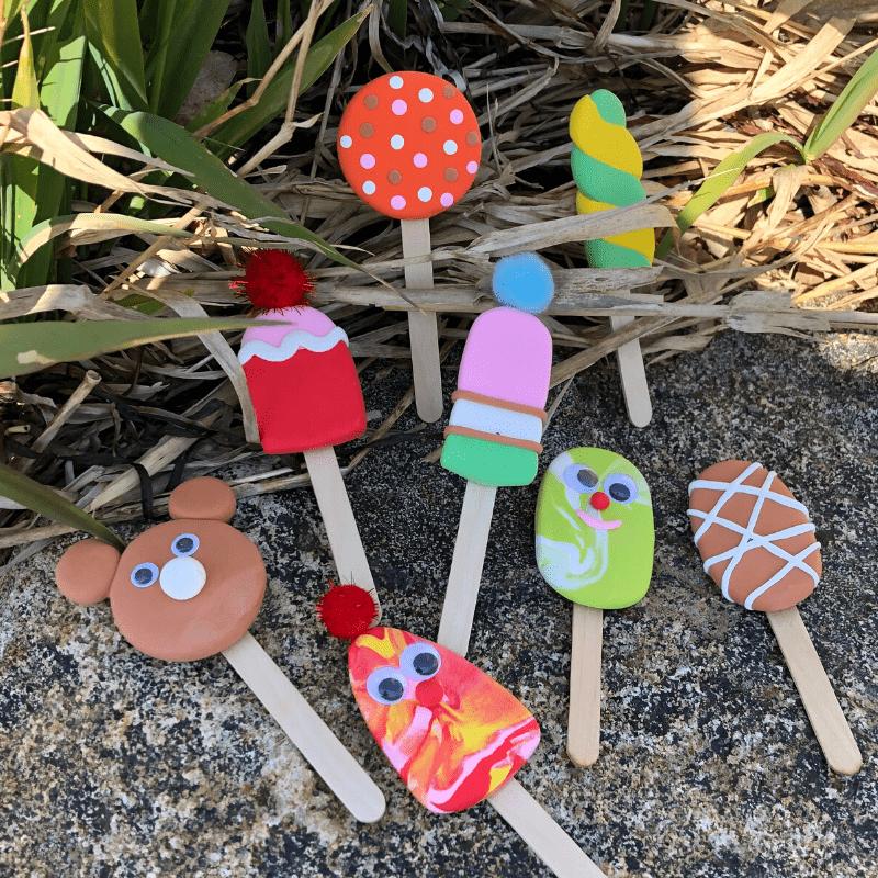 Roligt sommarpyssel för barn glassar av Silk Clay